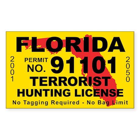Florida Terrorist Hunting License Sticker