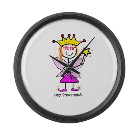 Fairy Princessitude! Large Wall Clock