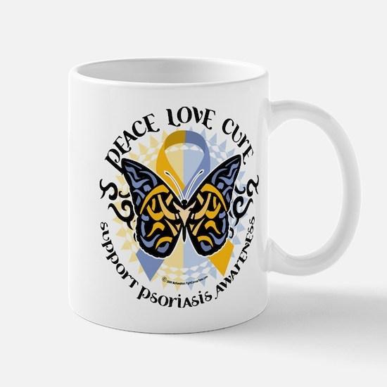 Psoriasis Peace Love Cure Mug