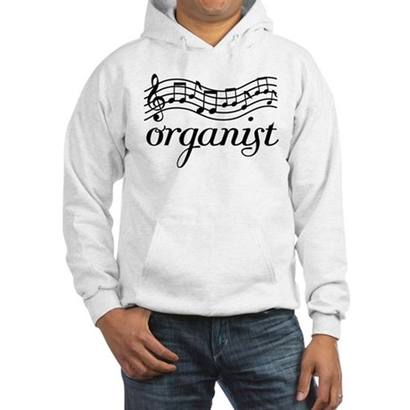 Organ Music Staff Hooded Sweatshirt