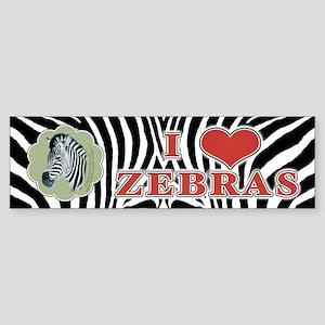 I Heart Zebras Bumper Sticker