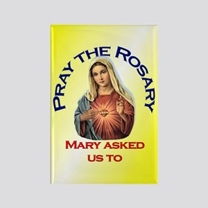Pray the Rosary - Rectangle Magnet (g)