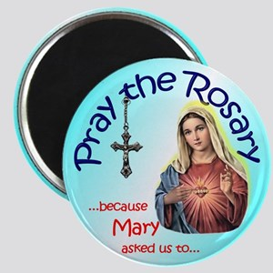 """Pray the Rosary - 2.25"""" Magnet (h)"""