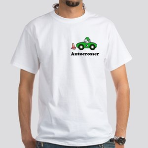 autocrosser White T-Shirt for ax racing