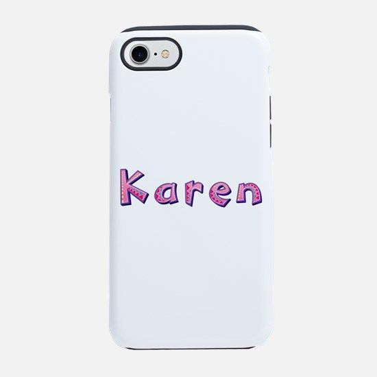 Karen Pink Giraffe iPhone 7 Tough Case