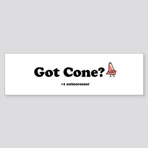 got cone? ax racing sticker (Bumper)
