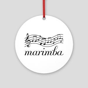 Musical Staff Marimba Ornament (Round)