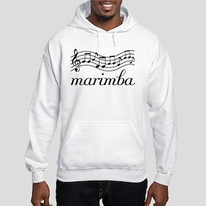 Musical Staff Marimba Hooded Sweatshirt
