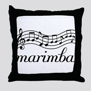 Musical Staff Marimba Throw Pillow