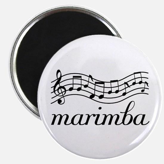Musical Staff Marimba Magnet