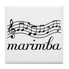 Musical Staff Marimba Tile Coaster