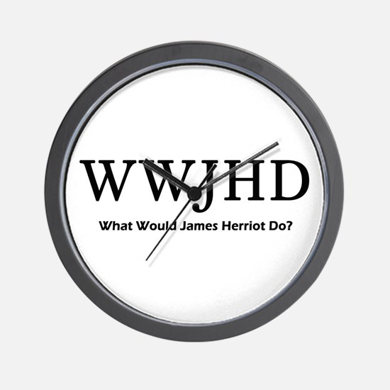 What Would James Herriot Do? Wall Clock