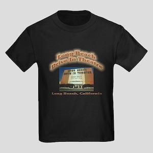 Long Beach Drive In Theatre Kids Dark T-Shirt