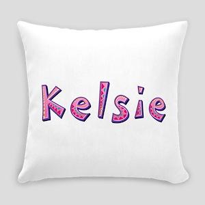 Kelsie Pink Giraffe Everyday Pillow