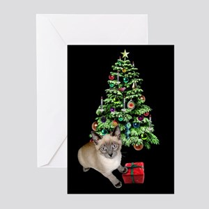 Cat Frosty Xmas Tree Greeting Cards (Pk of 20)