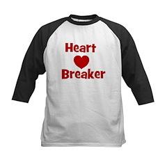 Heart Breaker with heart Kids Baseball Jersey