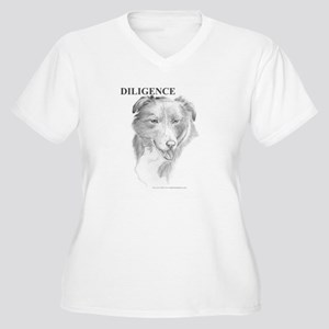Diligence Women's Plus Size V-Neck T-Shirt