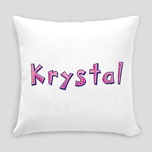 Krystal Pink Giraffe Everyday Pillow