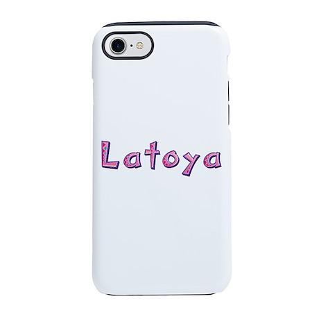Latoya Pink Giraffe iPhone 7 Tough Case