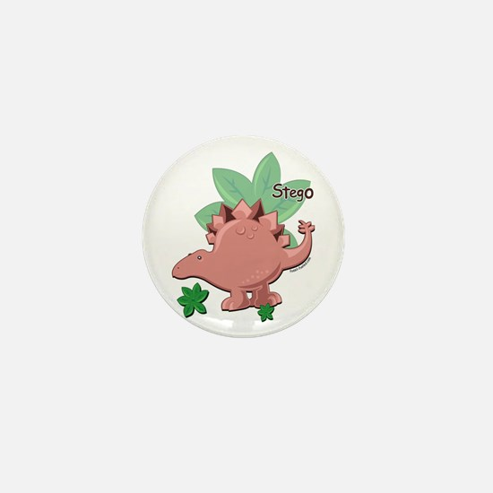 Stegosaurus Dinosaur Mini Button