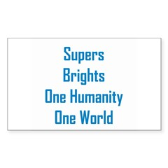 Supers/Brights Sticker (Rectangle 50 pk)