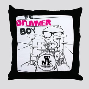 Drummer Boy Throw Pillow