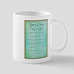 More & Less Mug