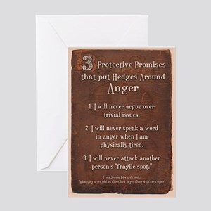 3 protective promises Greeting Card
