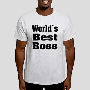 World's Best Boss Light T-Shirt