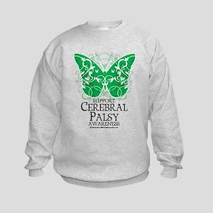 Cerebral Palsy Butterfly 2 Kids Sweatshirt