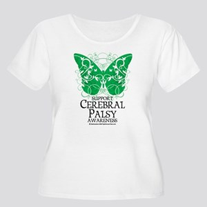 Cerebral Palsy Butterfly 2 Women's Plus Size Scoop