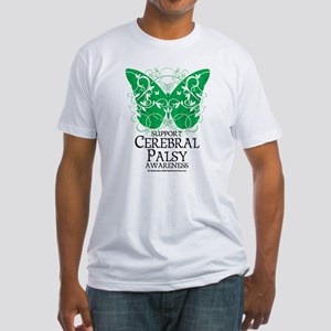 Cerebral Palsy Butterfly 2 Fitted T-Shirt