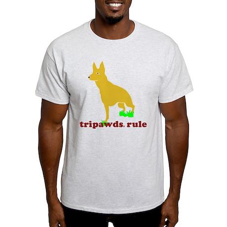 Tripawds Rule Front Leg GSD Light T-Shirt