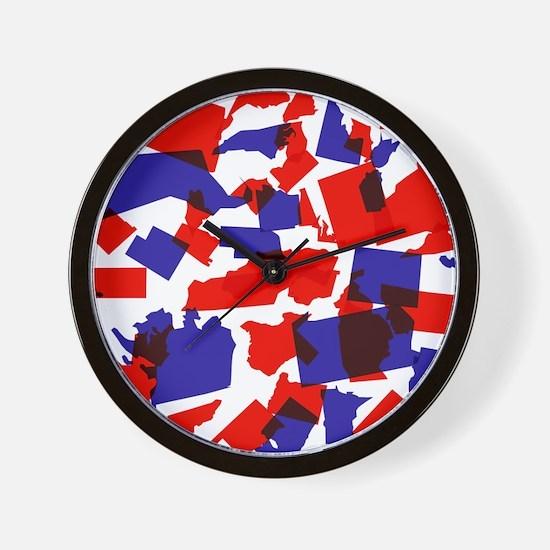 No Longer United States Wall Clock