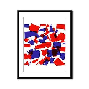 No Longer United States Framed Panel Print