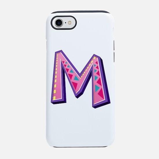 M Pink Giraffe iPhone 7 Tough Case