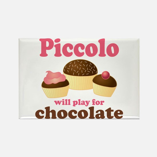 Funny Chocolate Piccolo Rectangle Magnet