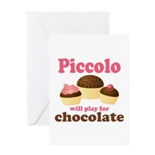 Funny Chocolate Piccolo Greeting Card