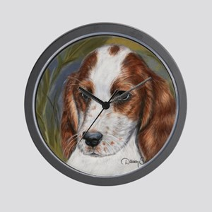 Irish Red & White Setter by D Wall Clock