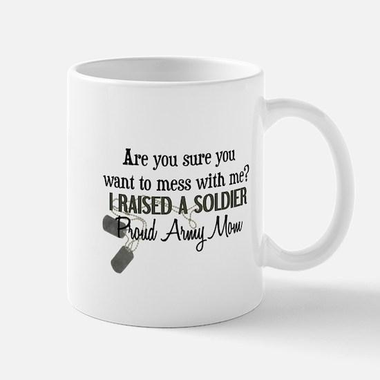 Raised a Soldier - Mom Mug