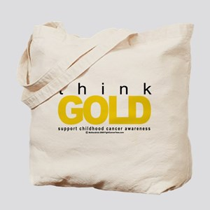 Childhood Cancer Think Gold Tote Bag