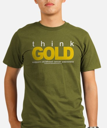 Childhood Cancer Think Gold T-Shirt