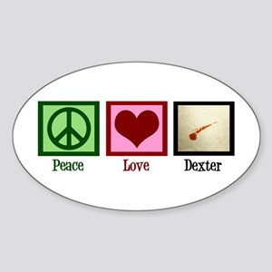Peace Love Dexter Sticker (Oval)