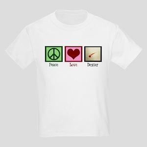 Peace Love Dexter Kids Light T-Shirt