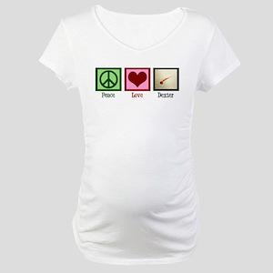 Peace Love Dexter Maternity T-Shirt