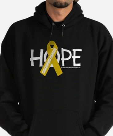 Childhood Cancer Hope Hoodie (dark)