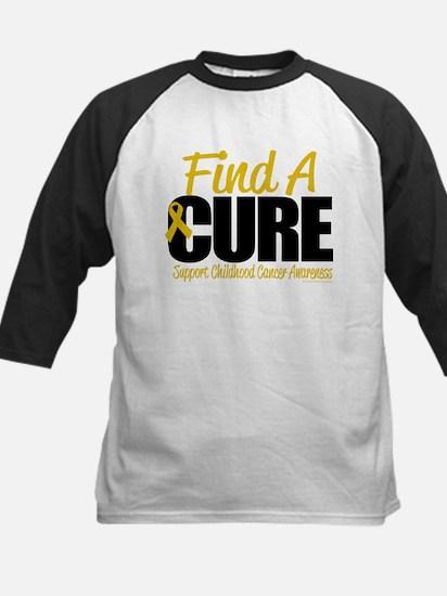 Childhood Cancer Find A Cure Kids Baseball Jersey