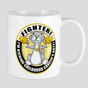 Childhood Cancer Fighter Cat Mug