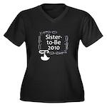Sister-to-Be 2010 Women's Plus Size V-Neck Dark T-