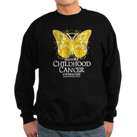 Childhood Cancer Butterfly 2 Sweatshirt (dark)